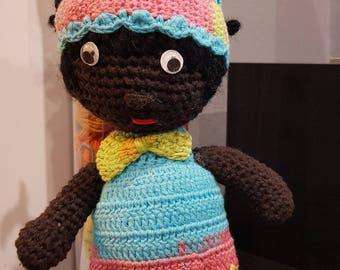 Rainbow doll amigurumi cotton