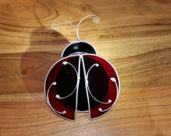 Stained Glass Ladybird Shelf Decoration