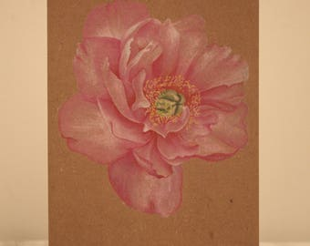 Peony greetings card