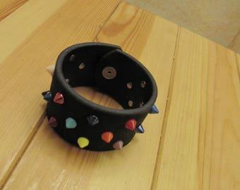 multicolor bracelet studs