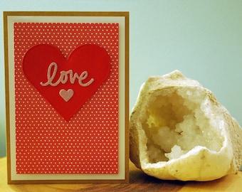 Love Valentine's Day Handmade Greeting Card