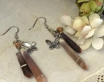 SEA URCHIN SHELL earrings