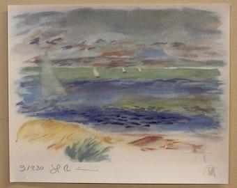 Signed Limited Edition Renoir Landscape Print
