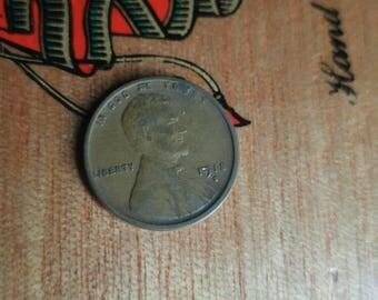 1918 s American wheat penny