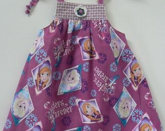 6/12 Month Dress, Frozen Dress, Disney Dress, Sisters Forever