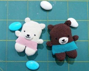 Teddy Bear Favor Bag Amigurumi