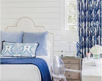 blue ikat curtains blue white curtains kravet shibori drapes curtains custom designer curtain panel dining extra