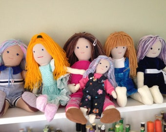 Handcrafted dolls, Waldorf style dolls,