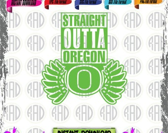 Straight Outta Oregon, Cut Files, EPS, SVG, PNG, Vector