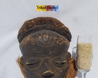 TRIBAL EXOTICS : PREMIUM Authentic fine tribal African Art - Pende Bapende Mbuya Wood Mask Figure Sculpture Statue