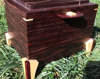 keepsake box, wood box, wooden box, wenge box