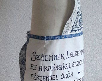 Apron with Hungarian inscription Magyar