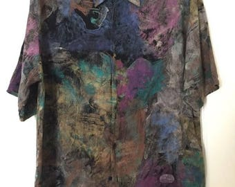 Italian-Inspired Abstract Blouse