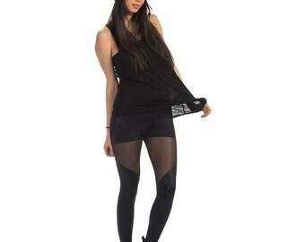 Black leggings/Sports leggings/Running leggings/Women's leggings