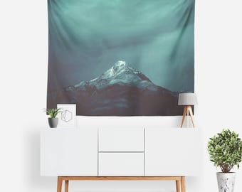 Dark Frost Tapestry | Nature Tapestry | Mountain Wall Decor | Mountain Tapestries | Landscape | Photo Tapestry | Mountain Wall Art