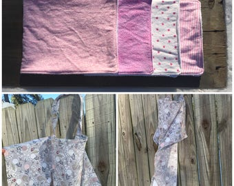 Baby Girl - Nursing cover with 4 burp cloths