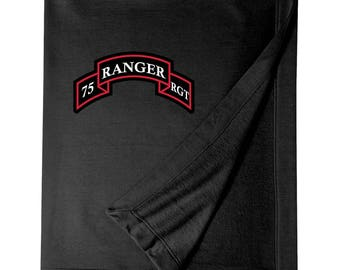 75th Ranger Regiment Embroidered Blanket-3322