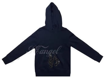 Gold Musical note  hoodie