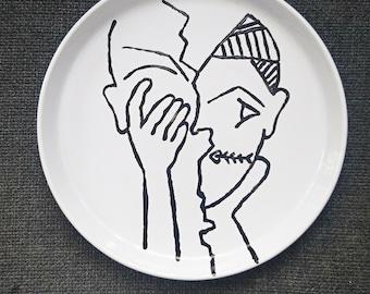"Stoneware ""Breakdown"" 26/26 cm plate"