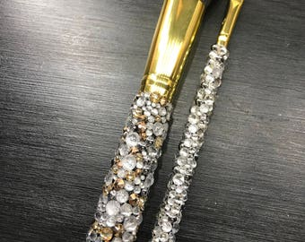 Champagne and Chrome Luxury Brushes