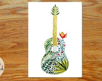 The Guitar & The Songbird Card *DIGITAL DOWNLOAD*