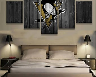 Pittsburg Penguins 5pc Wall Canvas
