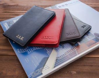 Personalized passport covers leather passport cover leather passport holder passport case groomsmen gift mens passport cover monogram