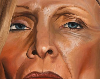 """Realistic Oil Painting on Canvas 594 x 841mm 23.39 x 33.11"""" A1 Bryan Drury Detail Study"""