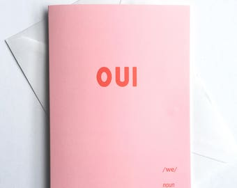 OUI VALENTINES CARD