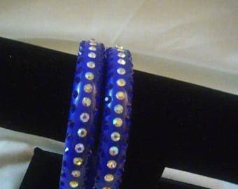 Royal Blue Bracelets with Bling