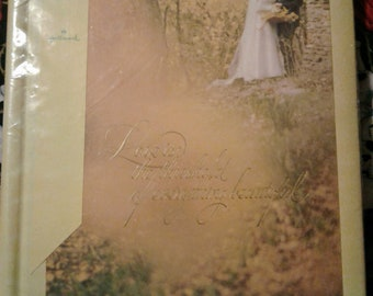 Hallmark Wedding Memory Album 1972 Vintage Retro
