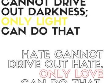 Protest Sign MLK JR Quote Digital Download Printable