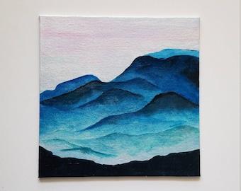 Smokey Mountains Acrylic Painting