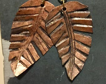 Copper Fern Earrings