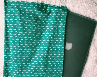 Teal Triangle Laptop Case
