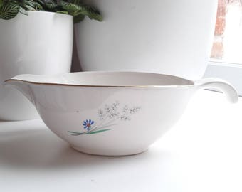 French vintage Sarreguemines ironstone gravy boat - Digoin 60's