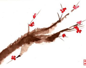 Plum Blossom I Print