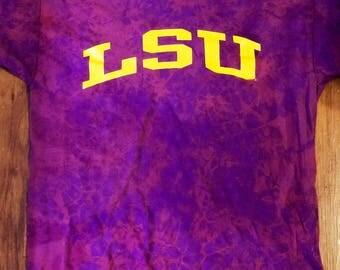 LSU Distressed Bleached Tshirt