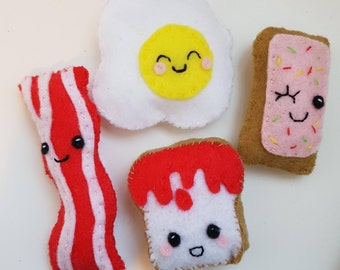 Felt Breakfast Lot Magnets