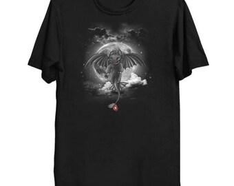 Night Fury. Dragon trainer tee. Dragon shirt. Dragon trainer T-shirt. Toothless tee. Toothless shirt. DragonTrainer. Full Moon tee. Drake.