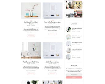 WordPress Theme - WordPress Blog Theme -WordPress Template - Responsive WordPress Theme - WordPress Blog - Antarctica - WordPress - Theme