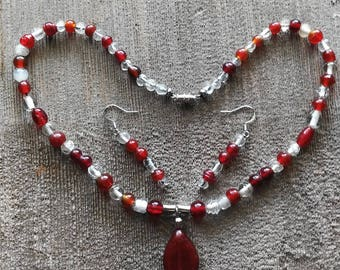 Fire & Ice Necklace and Earring Set