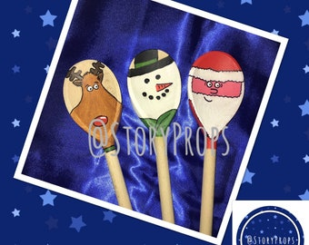 Christmas themed spoons