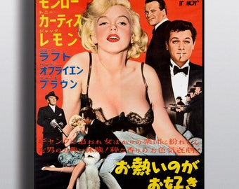 Some Like It Hot, Marilyn Monroe - Movie Vintage Poster Print