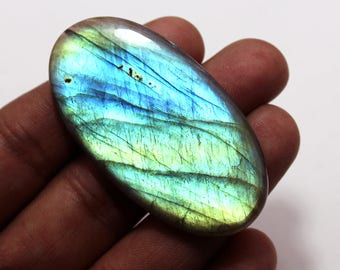 84.55cts Natural Multi flash Labradorite oval  55X29X5  mm Labradorite loose gemstone amazing & beautifull Labradorite nice flash AA-79