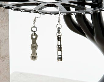Up-cycle Bicycle Chain Earrings - Full Link