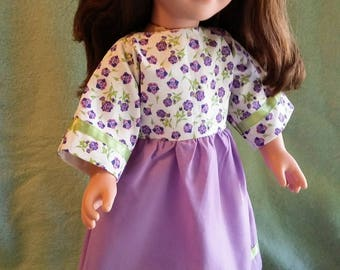 Lavender Green Doll Dress