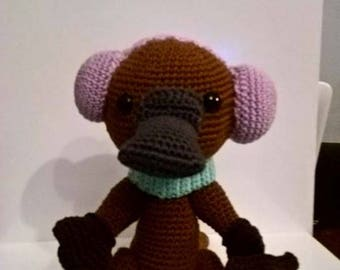 Platypus, amigurumi, croc's betty