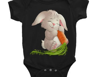 Easter Bunny with Carrots Infant Bodysuit