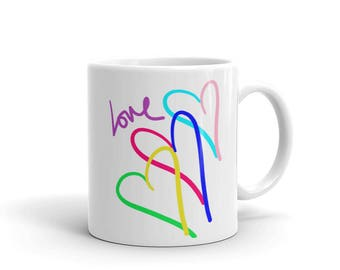 Mom's Love Connection Mother's Day Colorful Hearts Mug